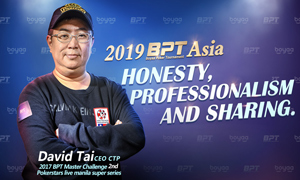 2019BPT Asia Star Player:David Tai